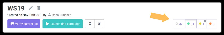email verification statuses