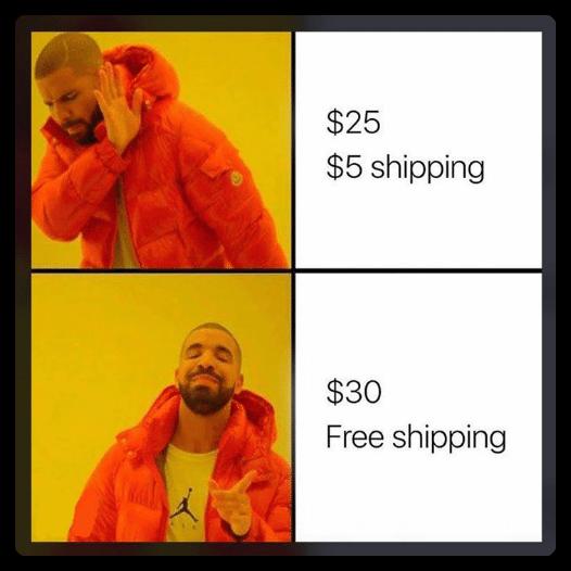 free shipping drake meme
