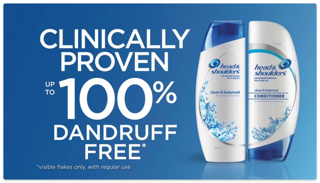 head&shoulders unique selling point
