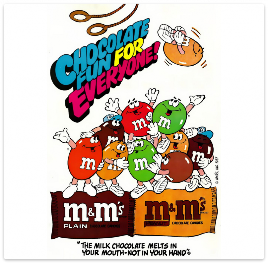 m&m's unique selling point