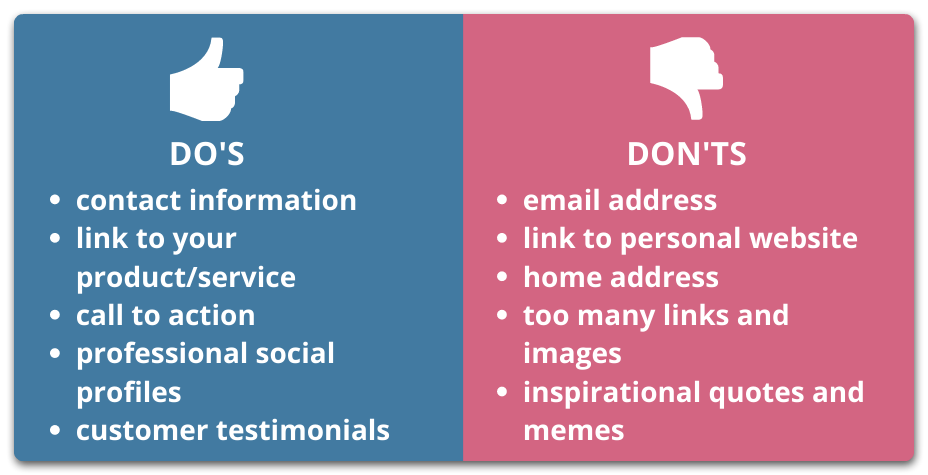 Do's and don'ts for cold email