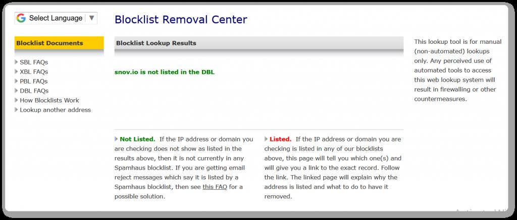 Blocklist removal