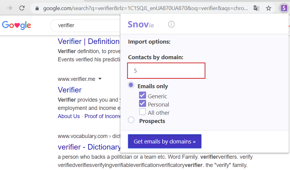 find emails on a search engine
