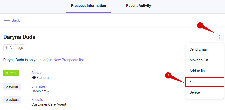 edit prospect