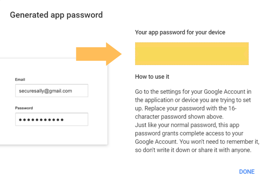 Set up Gmail SMTP with 2-Step Verification