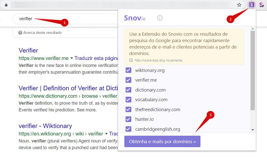 Como localizar e-mails em uma página de resultados de um mecanismo de busca