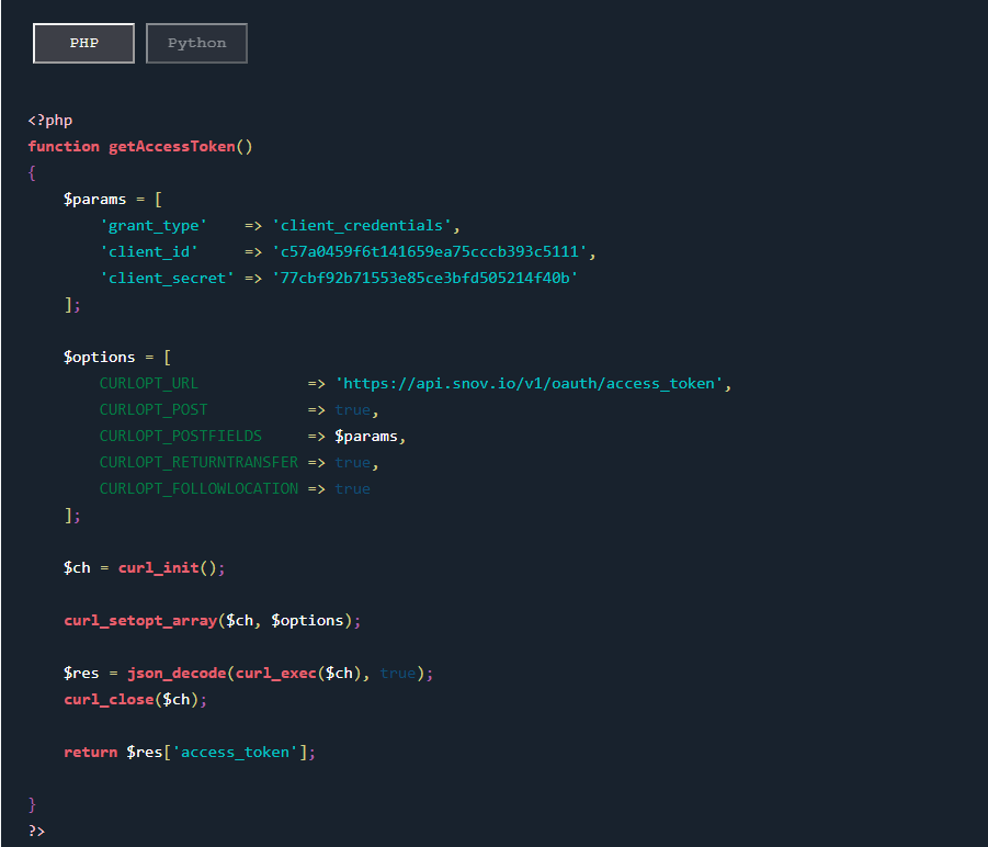 auth example php