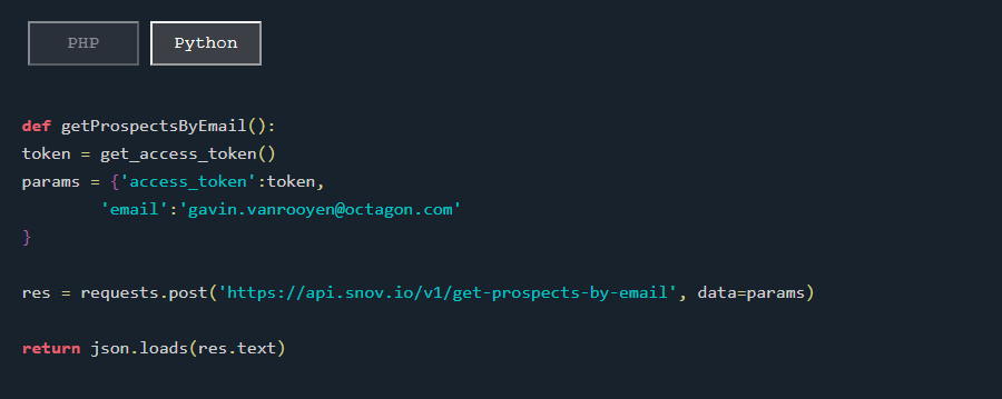 Find Prospect by Email