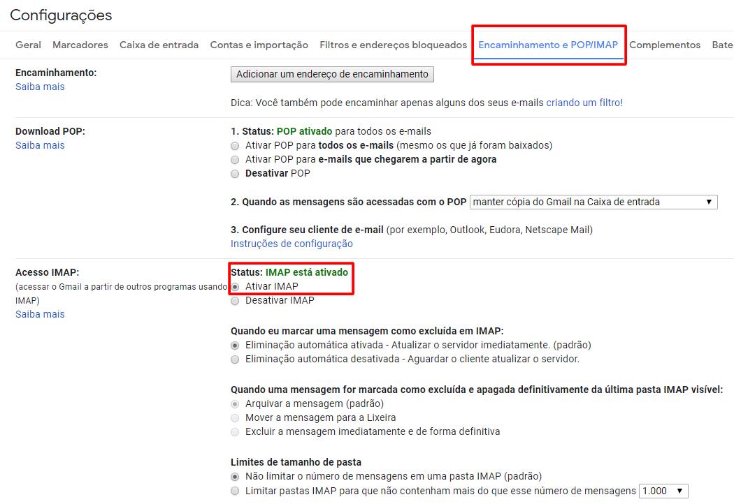 Como definir uma conta de remetente de SMTP ou Gmail