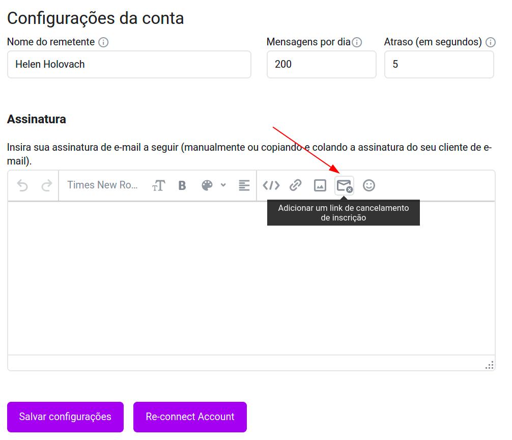 Como adicionar um link de descadastramento aos seus e-mails de campanha por gotejamento