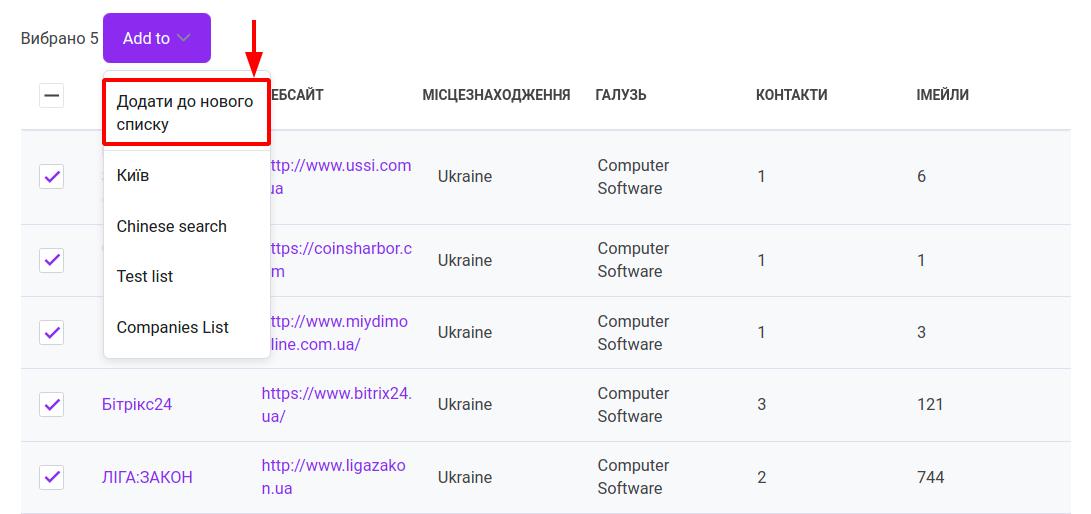 Як знаходити профілі компаній за допомогою Snov.io