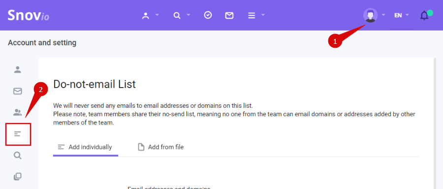 do not send list